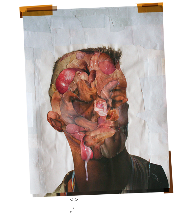 Fuck Face by, London, Deptford, artist, Paul Coombs, contemporary art, collage