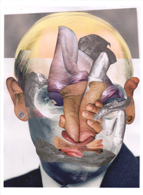 Pootin Putin Fuck Face by, London, Deptford, artist, Paul Coombs, contemporary art, collage, Putin