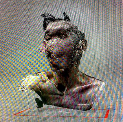 Interrupted 3D scan by artist Paul Coombs